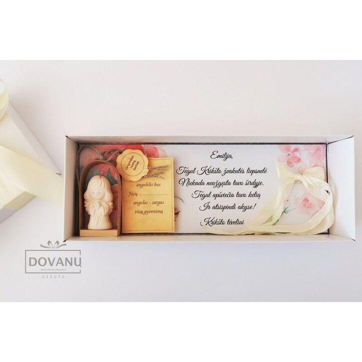 Sveikinimo dėžutė su angeliuku