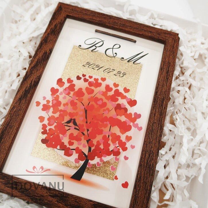 """Pinigų rėmelis - taupyklė """"Meilės medis"""""""